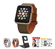Apple Watch - 42mm Woven Band w/ 2 Additional Bands, Stand and Software - E229477