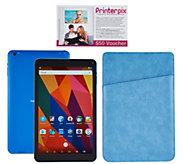 NuVision 10 HD Android 16GB QuadCore Tablet w/ Leatherette Case & Vouchers - E229877
