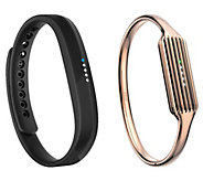 Fitbit Flex 2 with Rose Gold Bangle Bracelet - E231377