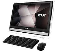 MSI 22ET 21.5 All-in-One Computer - Intel N3700, 4GB RAM, 1TB - E290877
