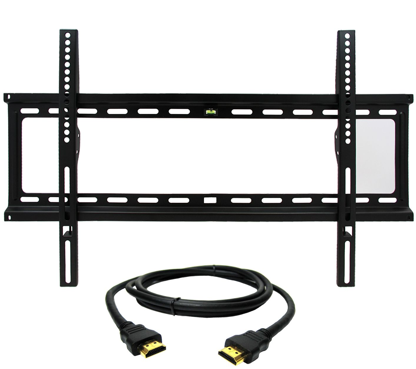 megamounts fixed 32 to 70 tv wall mount with hdmi cable page 1. Black Bedroom Furniture Sets. Home Design Ideas