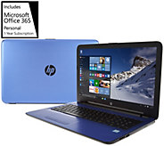 HP 15 Laptop Intel Core i3 12GB RAM 1TB HD Lifetime Tech & MS Office 365 - E230079