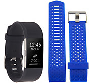 Ships 8/14 Fitbit Charge 2 Tracker with Cobalt Blue Sports Band - E231179