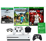 Xbox One S 500GB Minecraft Bundle With NBA 2K17, Forza, More - E290179