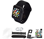 Apple Watch Series 1 38mm w/ Extra Nylon Band and Accessories - E231480
