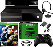 Refurbished Xbox One Console w/ Kinect Sensor &Fighter Within - E280880