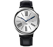 Huawei Smartwatch - Stainless Steel with BlackLeather Band - E287880