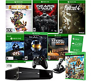 Xbox One 1TB Bundle with 7 Games and Charging Stand - E288780