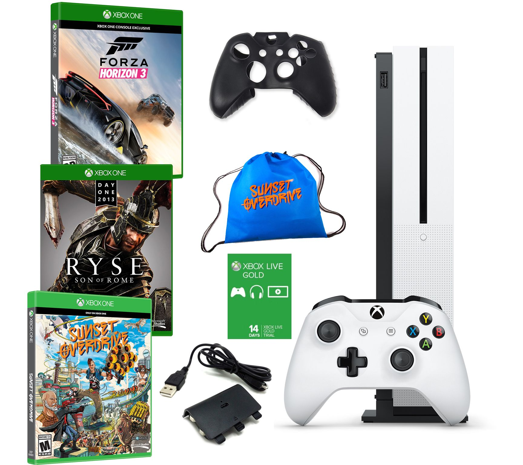 Xbox one s 1tb bundle with forza horizon 3 andtwo extra games qvc com