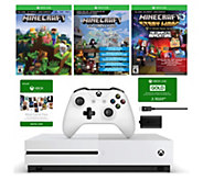 Xbox One S 500GB Minecraft Bundle with Play & Charge Kit - E292780