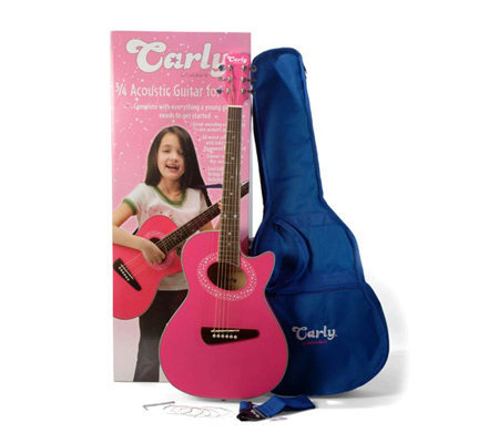 Carlo Robelli CAG5P Carly 3/4 Acoustic Guitar Pack - Pink