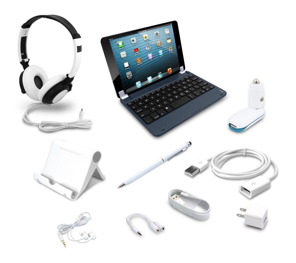 apple ipad mini 32gb wifi w keyboard 7pc acc 4 yr. Black Bedroom Furniture Sets. Home Design Ideas