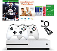 Xbox One S 500GB Madden 18 Bundle with Two Controllers and App Pack - E231581