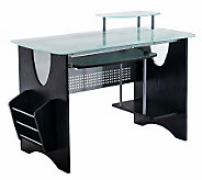 Techni Mobili Multifunction Glass Top ComputerDesk - E267581