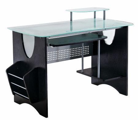 Techni Mobili Multifunction Glass Top Computerdesk Qvc Com