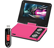 Impecca 7 Swivel Portable DVD Player with USBFlash Drive - E284981