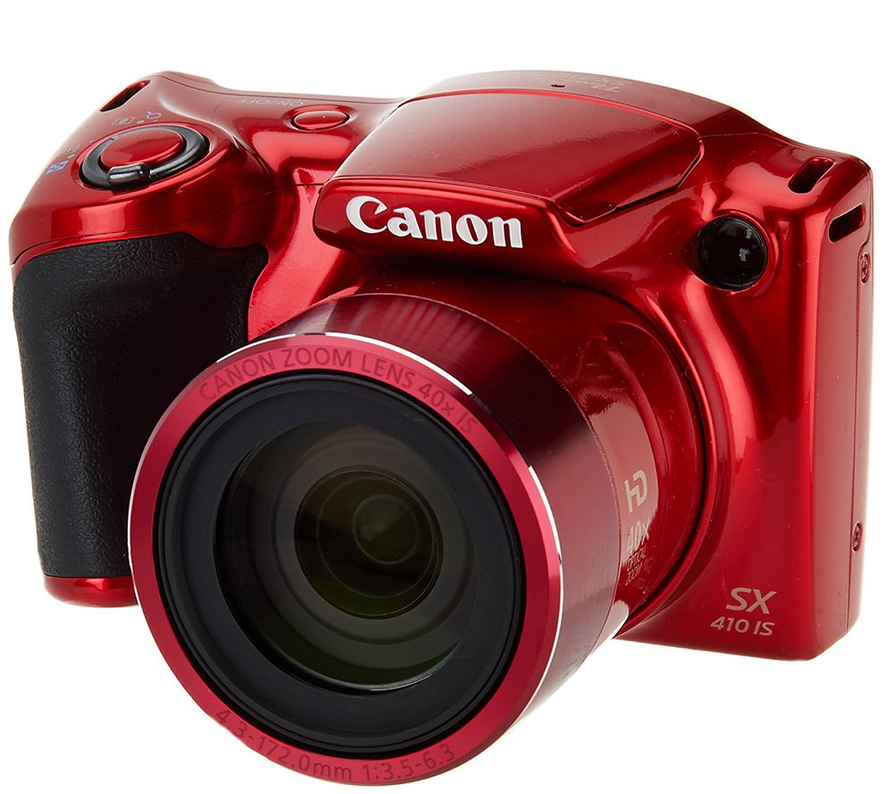 Canon Powershot SX410 IS 20MP 40x Zoom Digital Camera w/ Accessories - E227882 — QVC.com | shopswell