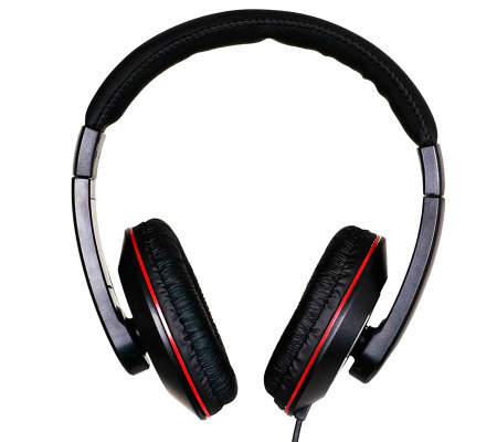 QFX 2-in-1 Combination DJ-Style Headphones withEarbuds