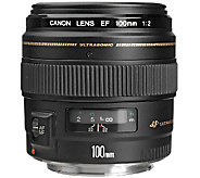 Canon EF 100mm F/2 USM Standard and Medium Telephoto Lens - E278882