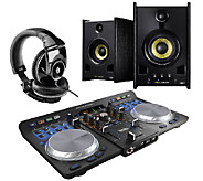 Hercules Universal DJ Turntable with Headphones& Speakers - E282982