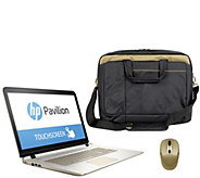 HP 17 Touch Gold Luxe Laptop AMD A10 8GB RAM 1TB HDD w/ Bag & Mouse - E229783
