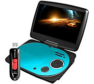 Impecca 9 Swivel Portable DVD Player with USBFlash Drive - E284983