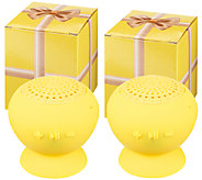 Set of 2 Jumbo PopRock Bluetooth Speakers in Gift Boxes - E226184