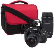Canon Rebe1 T5 18MP DSLR w/ 18-55mm & 75-300 Lenses & Accs.