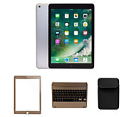 Apple New 2017 iPad 32GB Wi-Fi w/ Bluetooth Keyboard, Case & Accessories - E231084