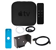 Apple TV 4K 32GB with Mounting Kit, HDMI Cable & Remote Sleeve - E231484