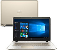 HP 17 Laptop Win10 Core i3 8GB RAM 1TB Gold Luxe, Tech & MS Office 365 - E228985