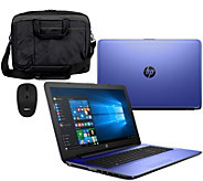 HP 15 Laptop Intel Core i3 12GB RAM 1TB HD Sleeve, Mouse, Life Time Tech - E229785