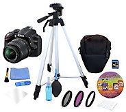 Nikon D3200 18-55mm with 16GB SDHC Card, Kit &Software Suite - E270585