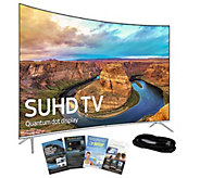 Samsung 49 Curved Smart SUHDTV with HDMI Cable& App Pack - E288985