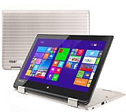 Toshiba 11.6 2 in 1 Laptop Intel 4GB RAM 500GB HDD with Lifetime Tech - E227786