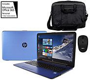 HP 15 Laptop Intel Core i3 12GB 1TB, Tech Sleeve, Mouse, MS Office365 - E229786