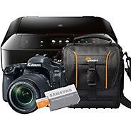 Canon EOS 80D DSLR Camera with Memory Card, Case & Printer - E290286