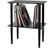 Victrola Wooden Stand with Record Holder - E292586