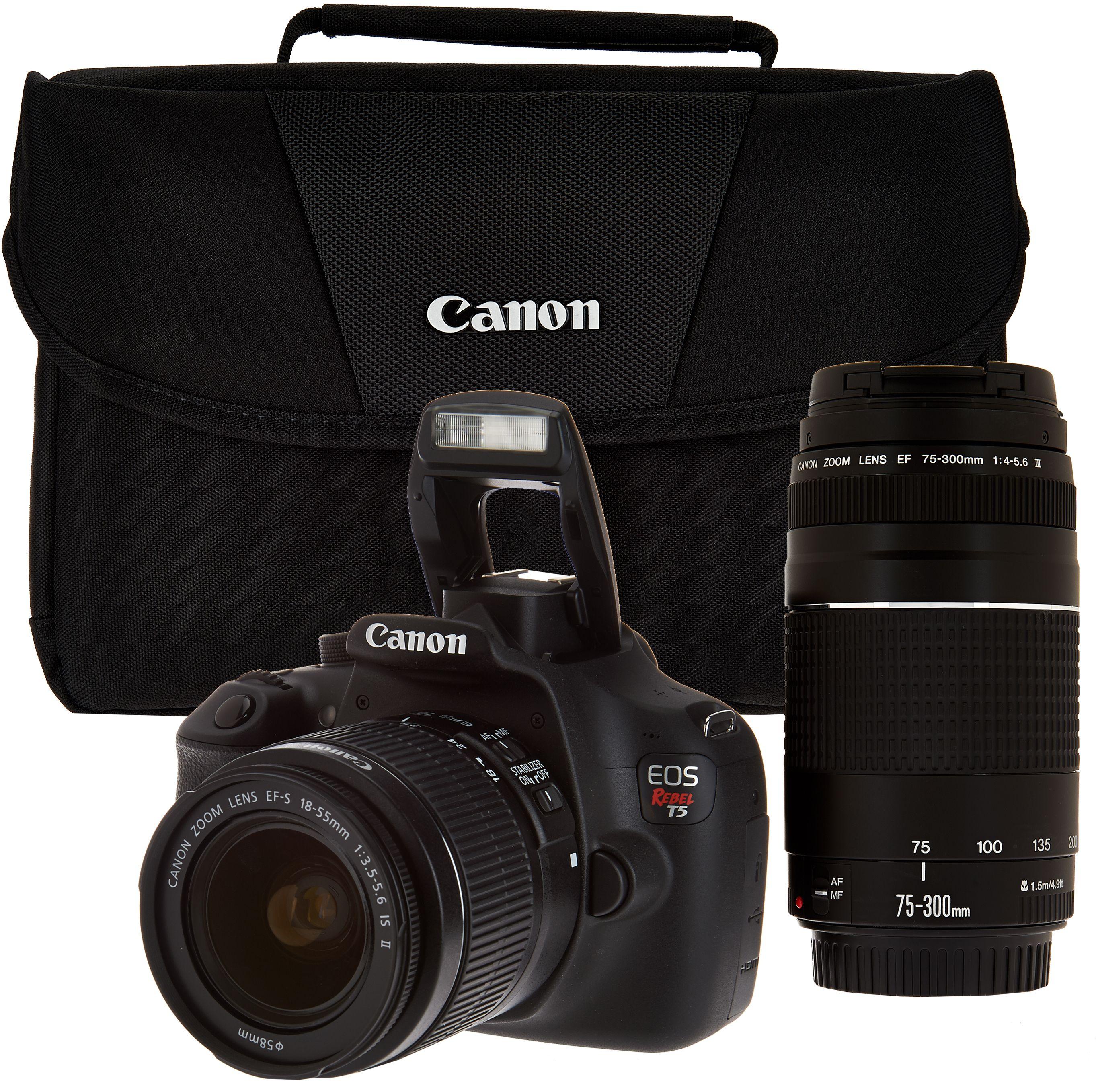 Camera Clearance Dslr Cameras digital cameras camera kits qvc com canon rebel t5 18mp dslr w 18 55mm 75 300mm lenses
