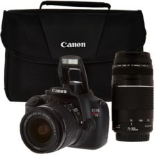 Canon Rebel T5 18MP DSLR Camera w/ 18-55mm & 75-300mm Lenses