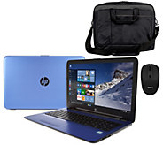 HP 17 Laptop Intel Core i3 12GB RAM 1TB HD Mouse, Sleeve, Life Time Tech - E229787
