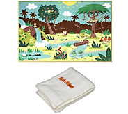 SpinTales Interactive Jungle Play Area Rug w/ Bonus Towel - E230887