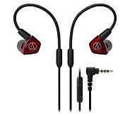 Audio-Technica Dual-Armature Driver Earbuds - E294087