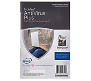 Lifetime McAfee AntiVirus Plus Life of PC - One PC - E229088