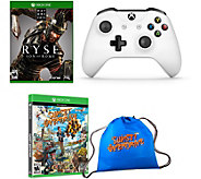 Xbox One 2 Games, Bag and Controller - E291288