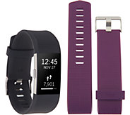 Fitbit Charge 2 Tracker with Choice of Additional Band - E230589