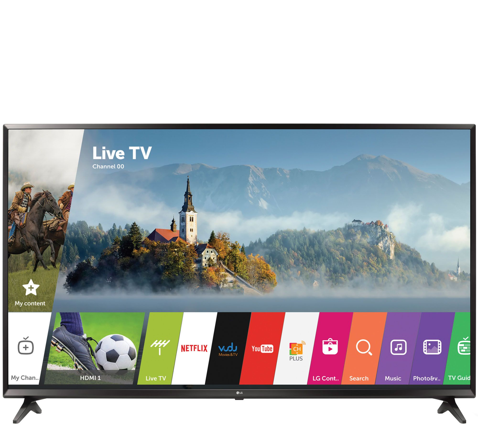 """LG 55"""" 4K Ultra HD Smart TV with Active HDR and Channel ..."""