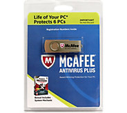 McAfee & Intel Antivirus Plus System Mechanic for Life of 6 Computers - E230889