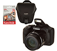 Canon PowerShot SX530 HS 16MP 50X Zoom Wifi Digital Camera w/ Case and SD - E231989