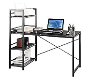 Techni Mobili Computer Desk with Four-Tier Shelf Tower - E267589
